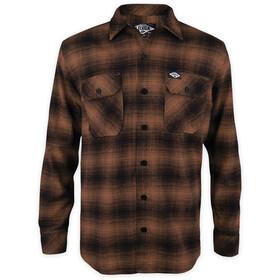 Loose Riders LS Flannel Shirt Men, marrone/nero